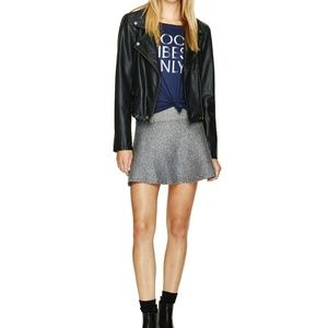Aritzia sweater skater skirt gray